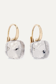 Pomellato Nudo Classic 18-karat rose and white gold topaz earrings