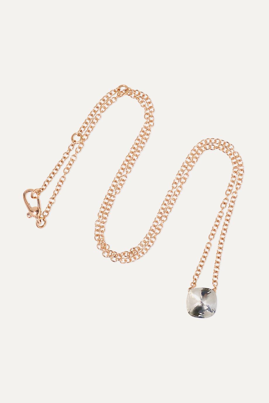 Pomellato Nudo 18-karat rose and white gold topaz necklace