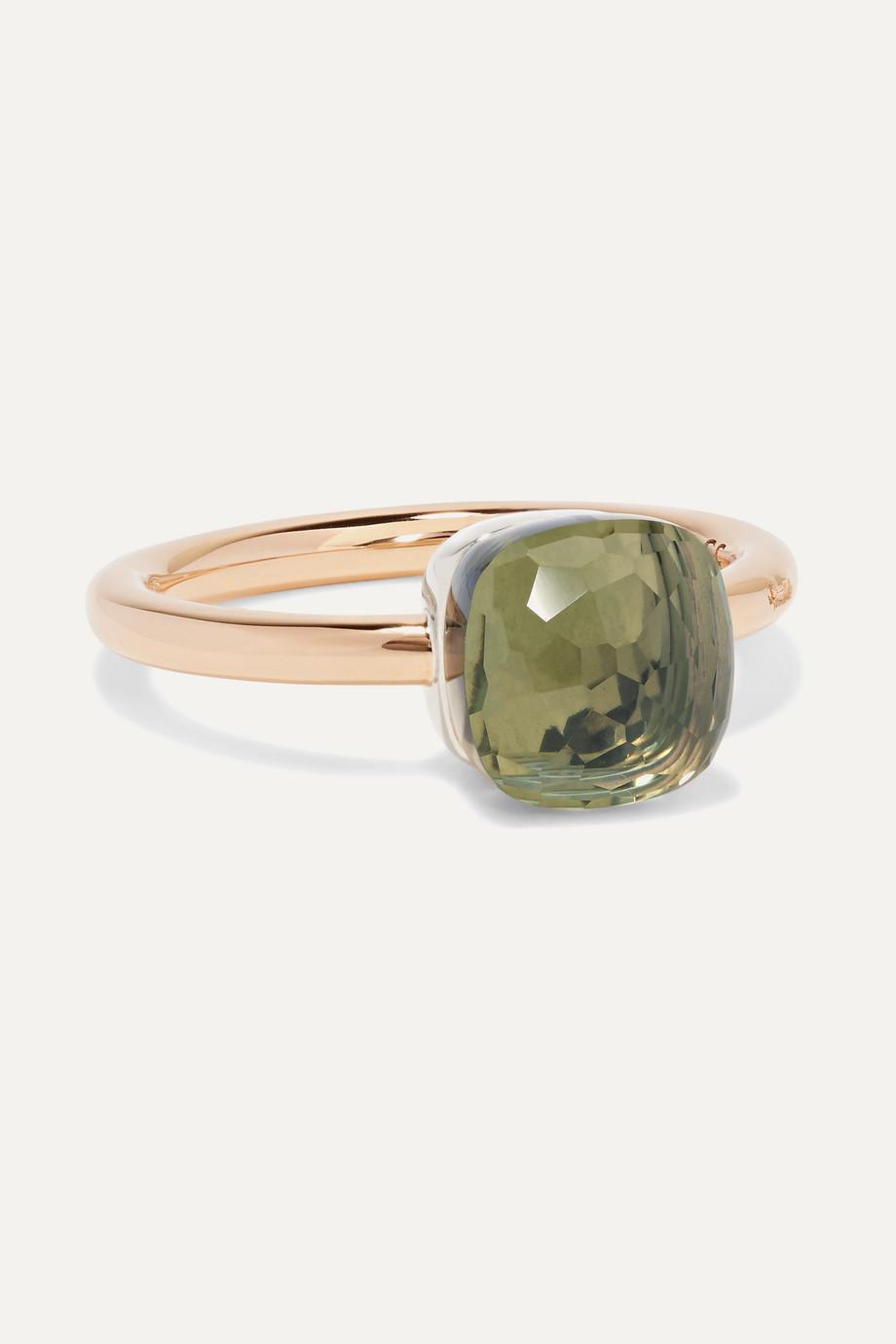 Pomellato Nudo Petit 18-karat rose gold prasiolite ring