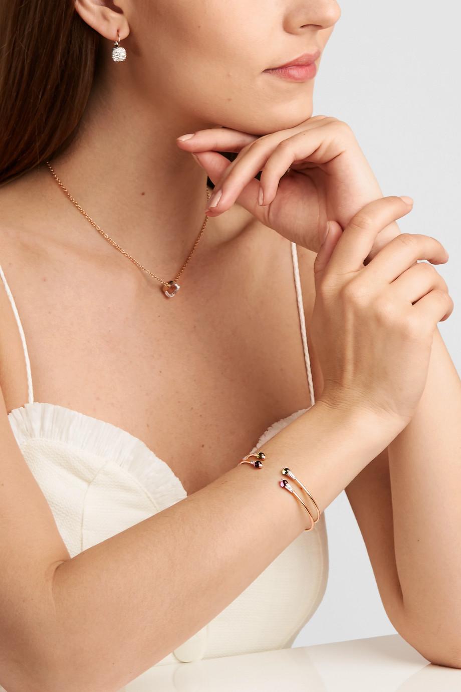Pomellato 18-karat rose gold, amethyst and diamond cuff