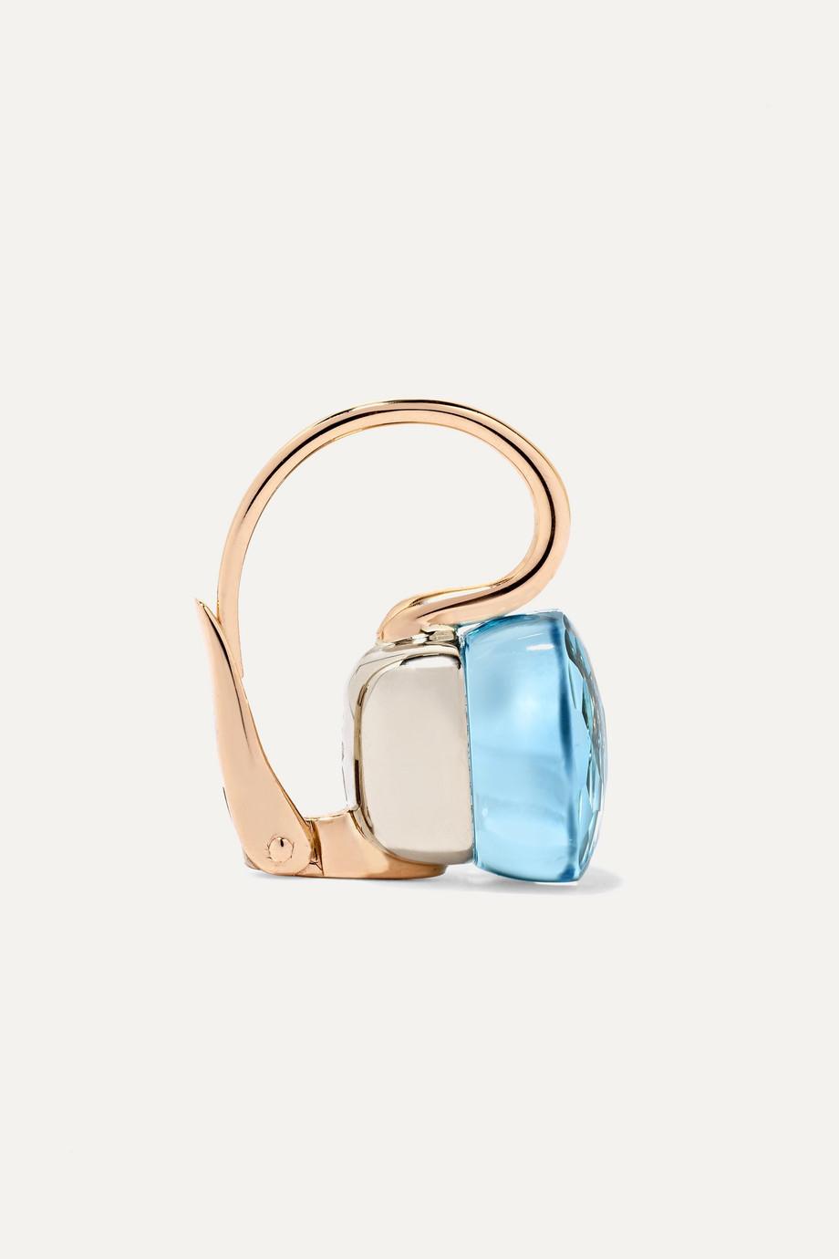 Pomellato Nudo 18-karat rose gold topaz earrings