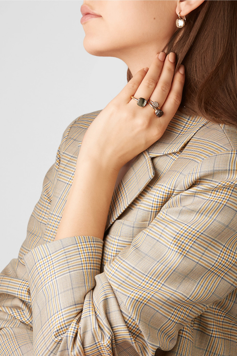 Pomellato Nudo Classic 18-karat rose and white gold prasiolite ring