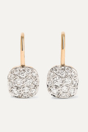 Nudo 18-karat rose and white gold diamond earrings