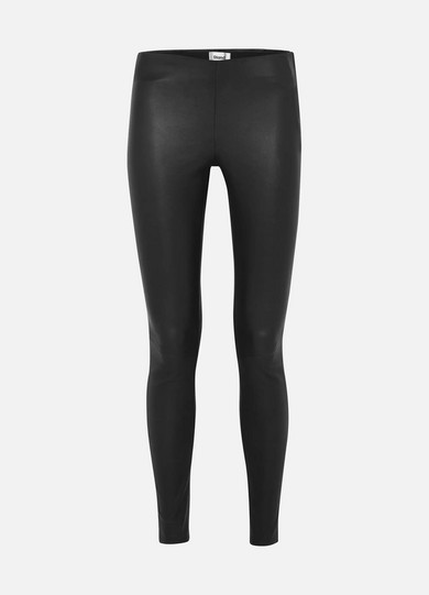 STAND | STAND - Cordelia Leather Leggings - Black | Goxip