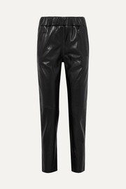 Noni leather track pants