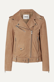 Polly suede biker jacket