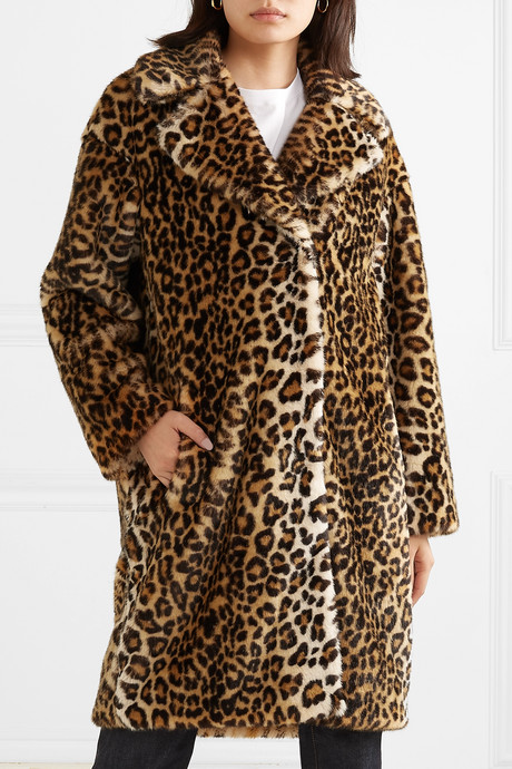 Camille leopard-print faux fur coat