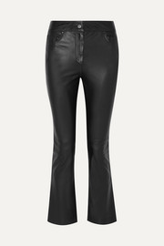 Avery cropped leather flared pants