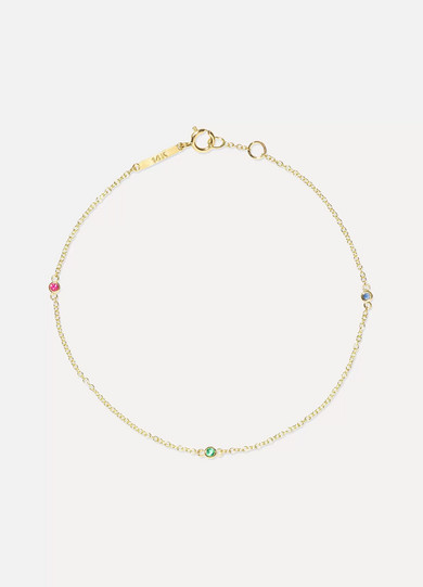 GRACE LEE 14-Karat Gold Multi-Stone Bracelet