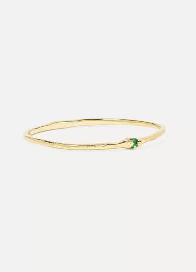 GRACE LEE Whisper 14-Karat Gold Emerald Ring