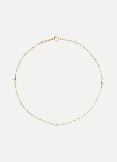 GRACE LEE 14-Karat Gold, Sapphire And Emerald Anklet