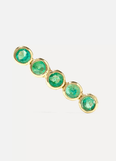 GRACE LEE 14-Karat Gold Emerald Earring