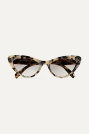 Miu Miu Cat-eye crystal-embellished tortoiseshell acetate sunglasses
