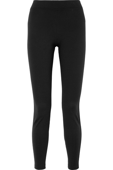 WOLFORD | Wolford - The Tux Satin-trimmed Stretch-jersey Leggings - Black | Goxip