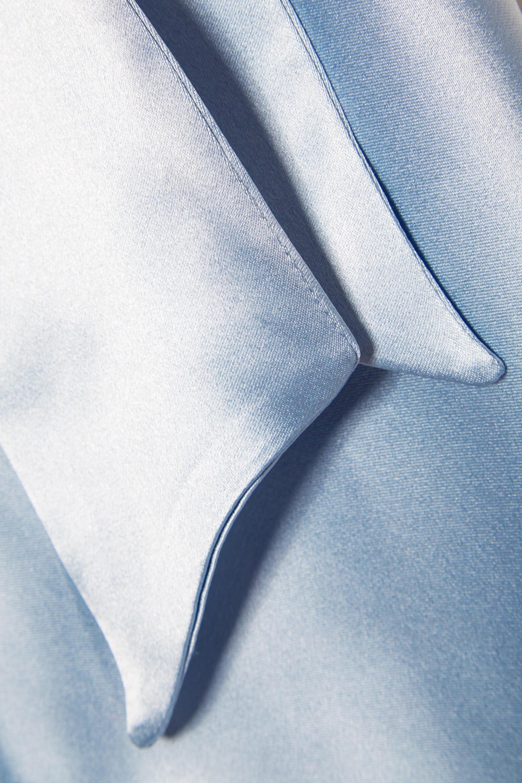 Deitas Louise asymmetric silk-satin maxi dress