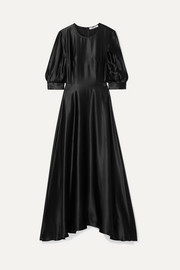 Ada silk-satin maxi dress
