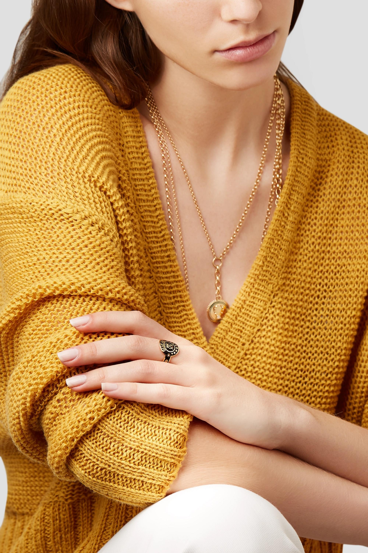 Foundrae Dream 18-karat gold, diamond and enamel ring