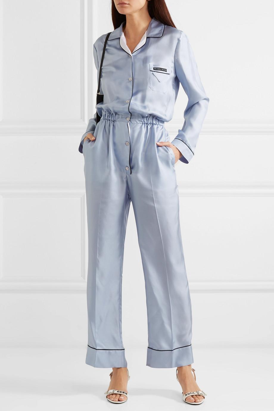 Prada Combi-pantalon en serge de soie