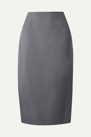 Mohair and wool-blend pencil skirt