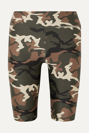 The Upside Camouflage-print stretch shorts