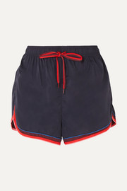 The Upside Retro Derby striped shell shorts