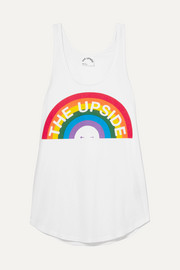 The Upside Rainbow Issy printed cotton-jersey tank
