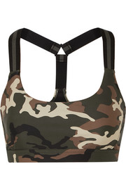 The Upside Alex camouflage-print stretch sports bra