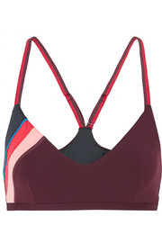 The Upside Zoe striped stretch sports bra