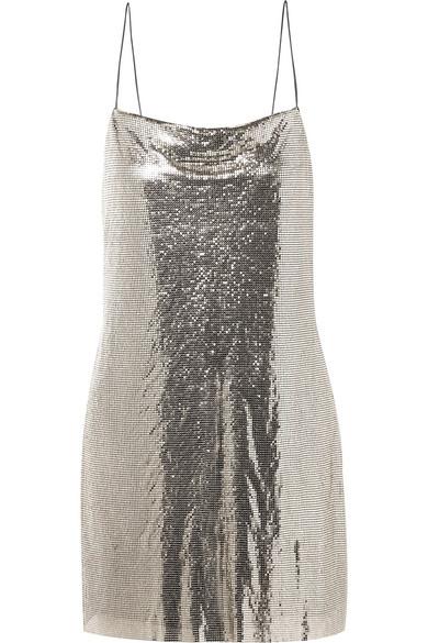 57f7a4a4dea Alice + Olivia. Harmony chainmail mini dress