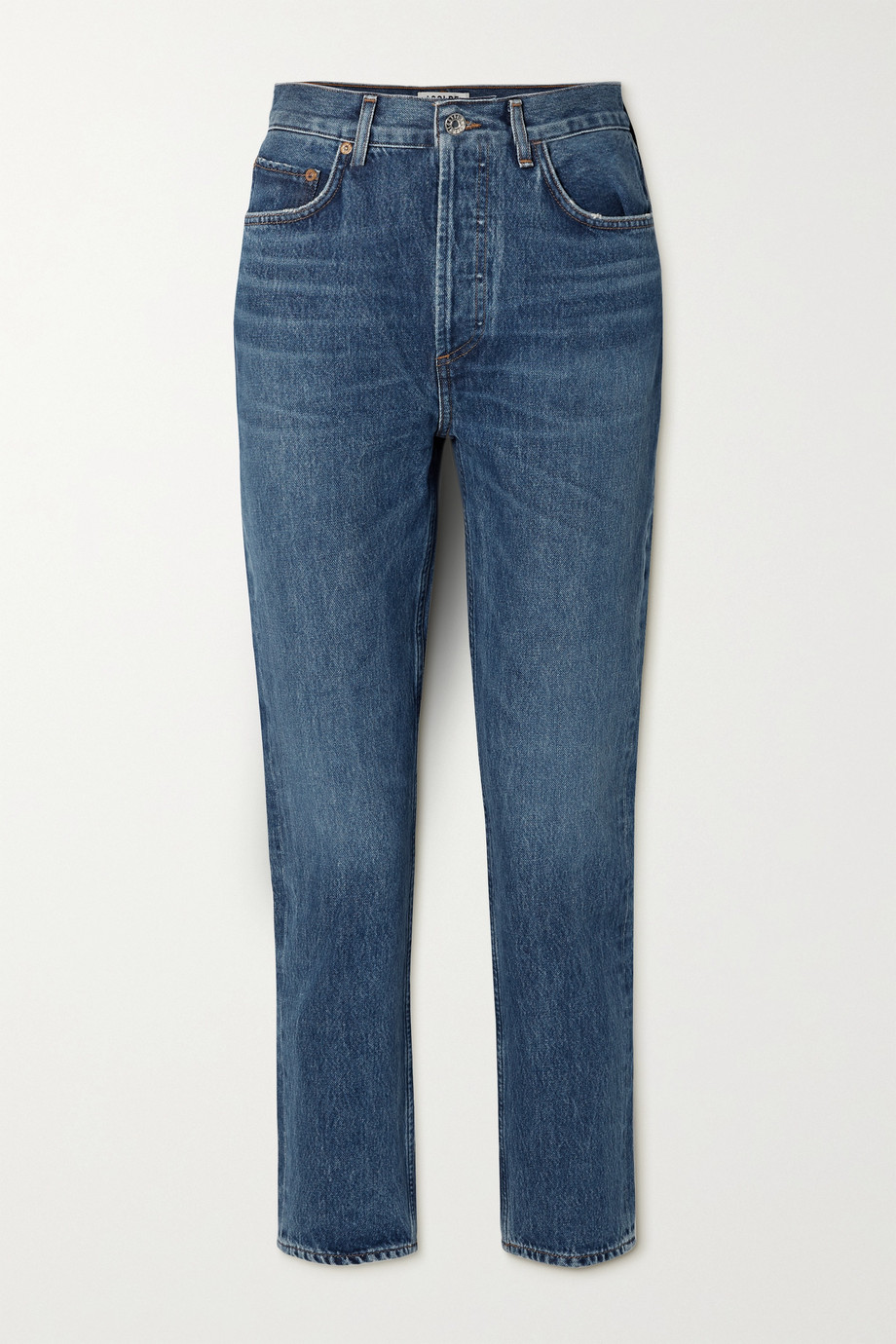 AGOLDE Riley cropped high-rise straight-leg jeans