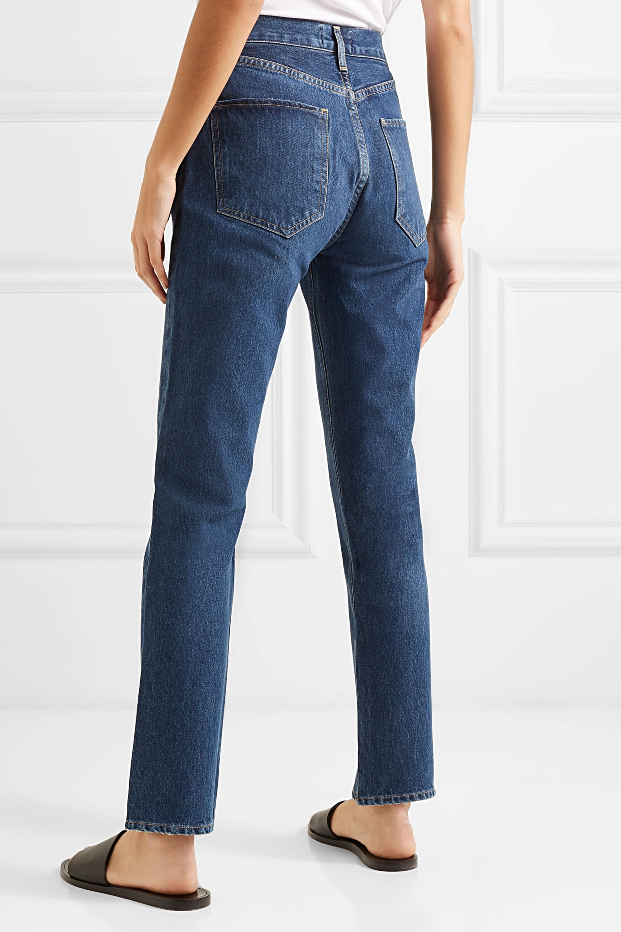 AGOLDE Remy high-rise straight-leg jeans
