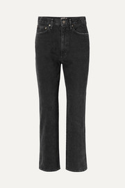 Pinch Waist high-rise flared jeans