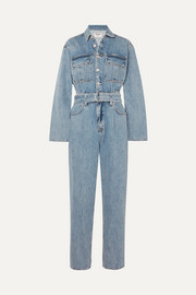 Tatum belted denim jumpsuit