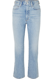 Pinch Waist high-rise straight-leg jeans
