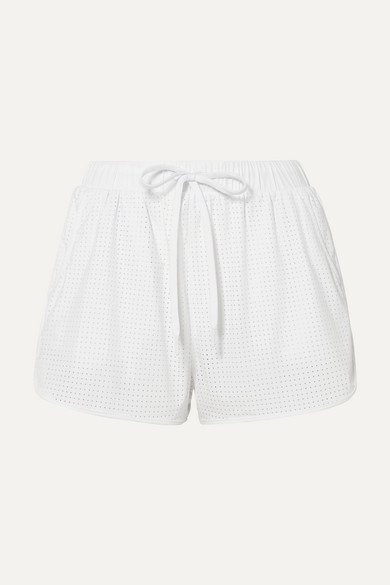 The Upside Shorts Track perforated shell shorts