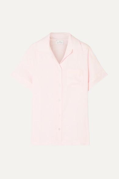 POUR LES FEMMES | Pour Les Femmes - Linen Pajama Shirt - Pastel pink | Goxip