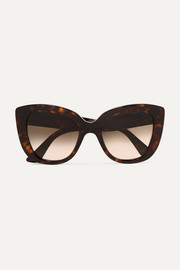 Havana cat-eye tortoiseshell acetate sunglasses
