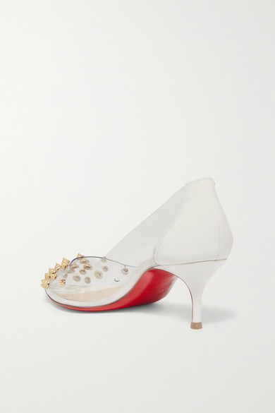 452f671e0ef Christian Louboutin | Collaclou 55 spiked PVC and patent-leather ...