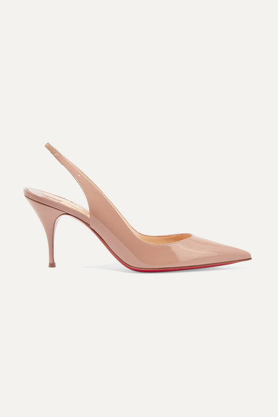 39ced23955d Christian Louboutin. Clare 80 patent-leather slingback pumps