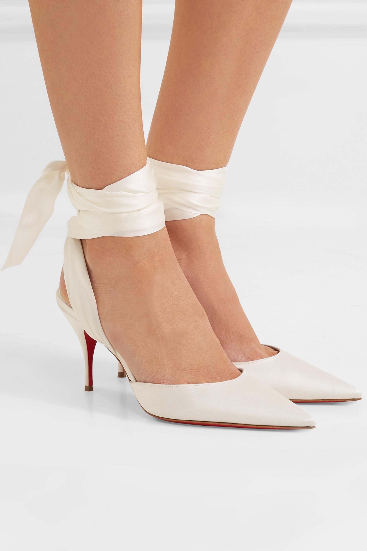 louboutin wrap heels