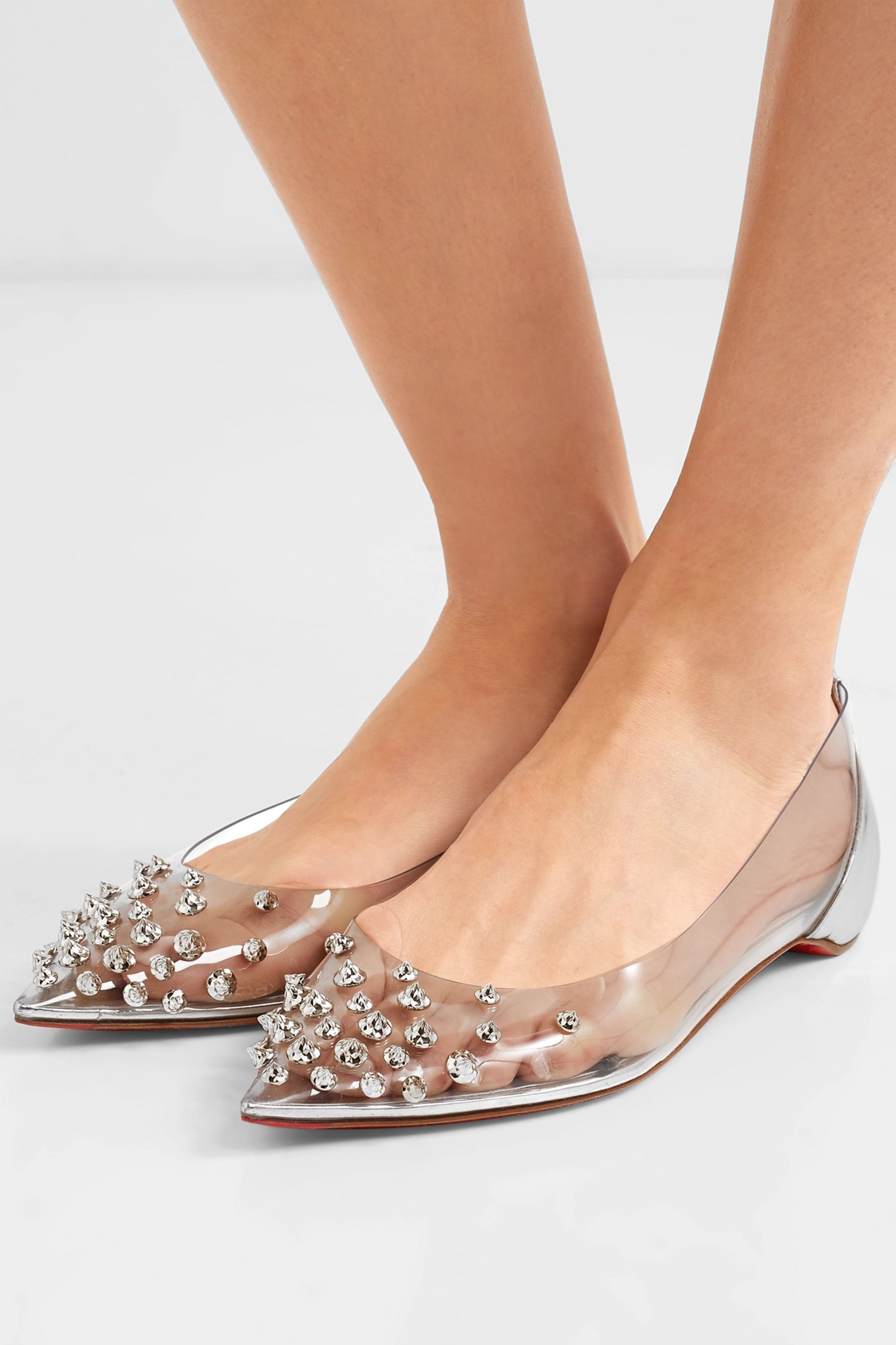 Silver Collaclou spiked PVC and