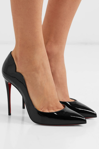 c9701103aa2c Christian Louboutin. Hot Chick 100 patent-leather pumps