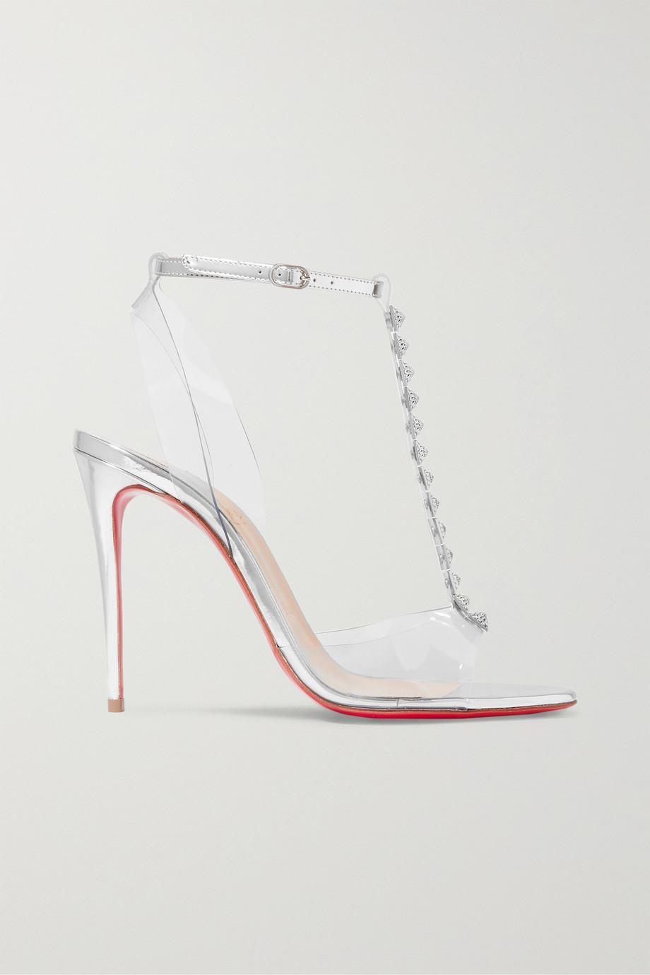 Christian Louboutin Jamais Assez 100 spiked PVC and metallic leather sandals