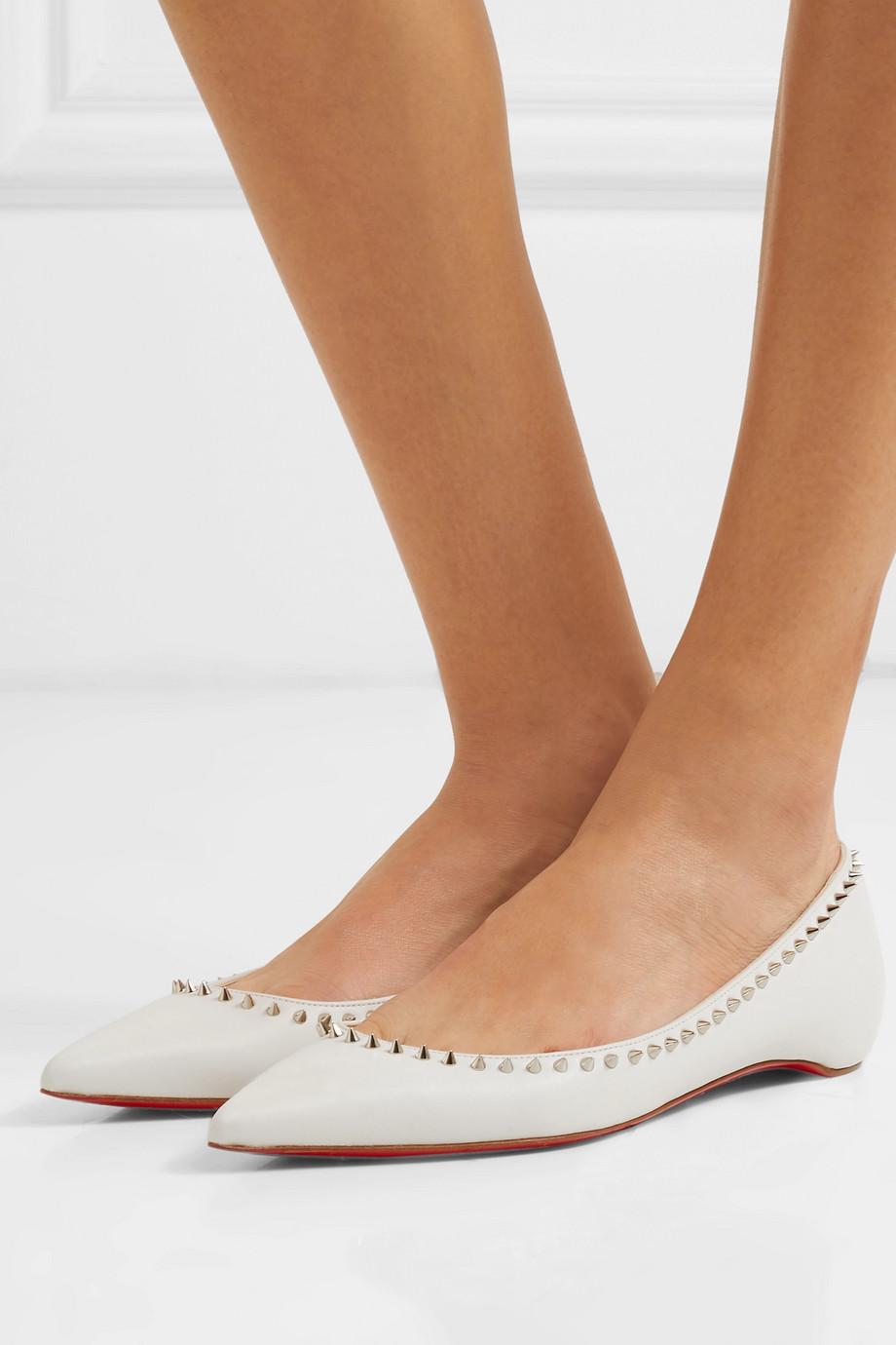Christian Louboutin Anjalina studded leather point-toe flats