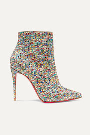 So Kate 100 embellished tweed ankle boots
