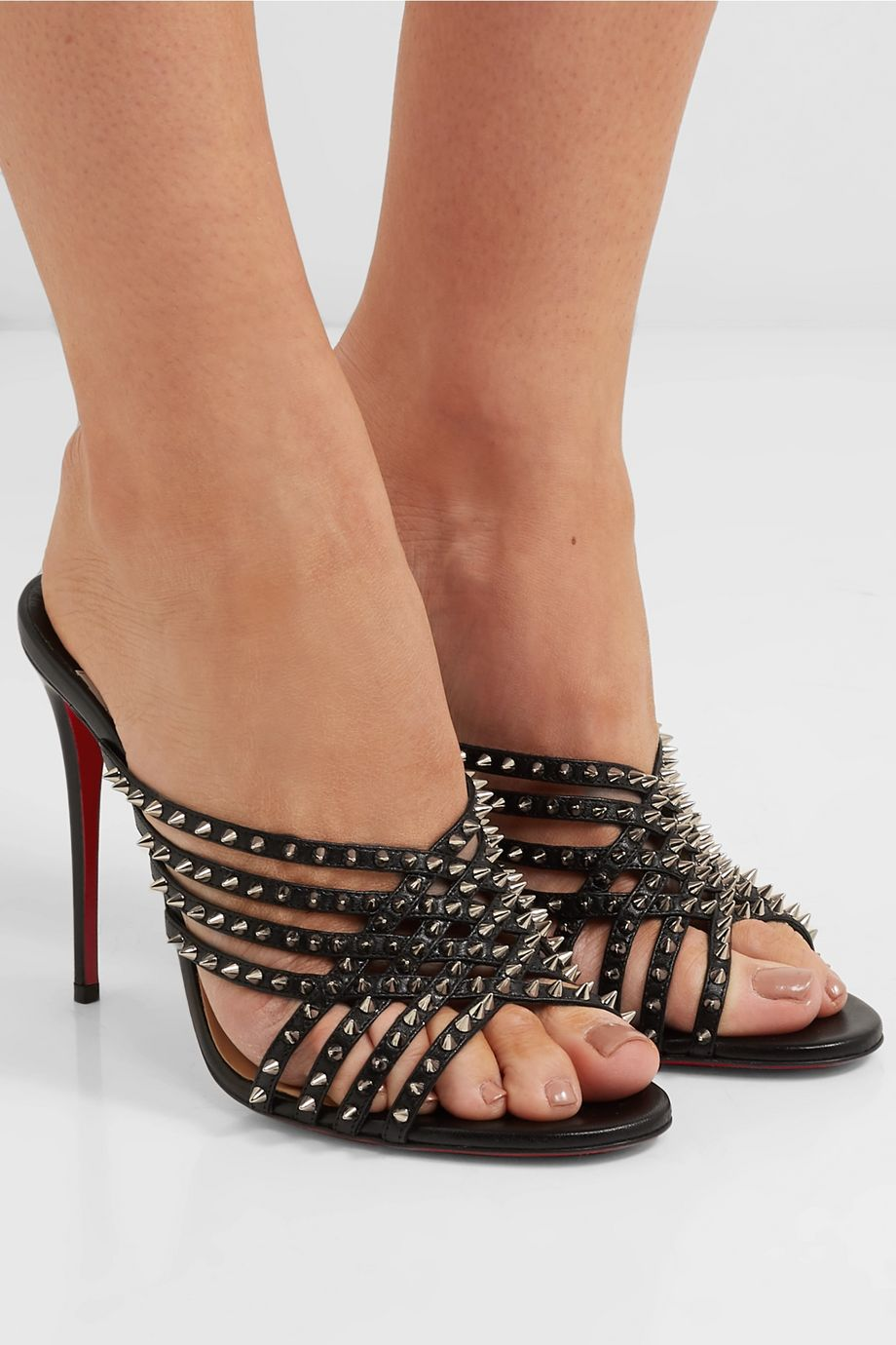 Christian Louboutin Marthaspike 100 leather mules