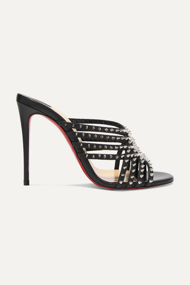 Marthaspike 100 Leather Mules by Christian Louboutin