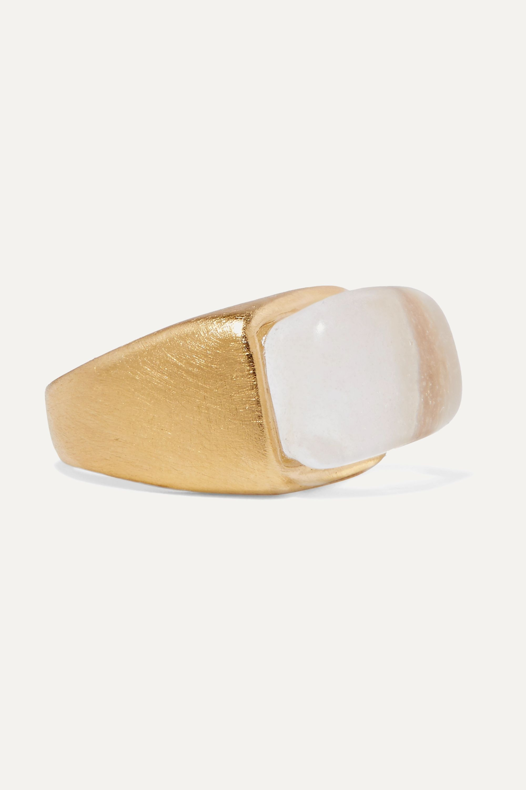 1064 Studio Gold-plated and resin ring