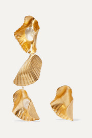 1064 Studio Gold-plated resin earrings
