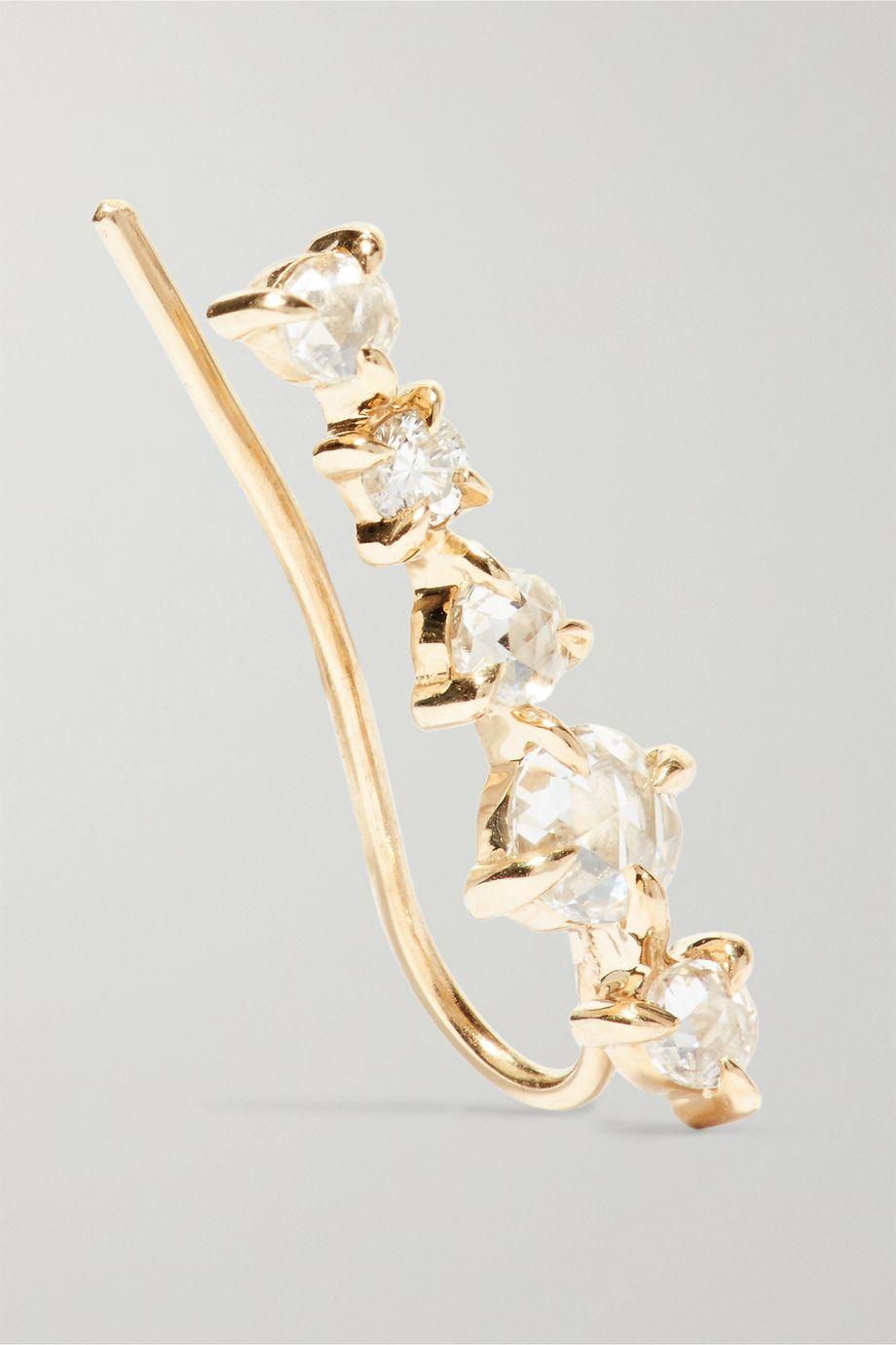 Catbird Snow Queen gold diamond earring